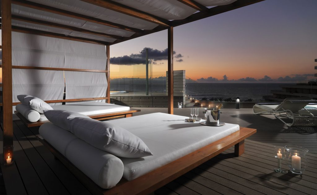 Vista nocturna de la terraza Privilege (¡nueva!)
